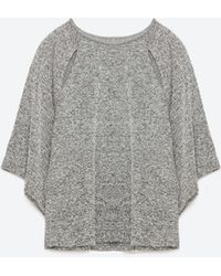 Zara | T-shirt With Slits | Lyst