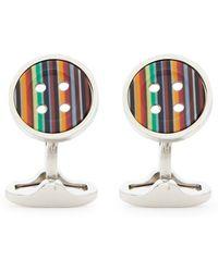 Paul Smith Stripe Button Cufflinks - Lyst