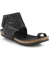 Pedro Garcia Perforated Suede Flat Sandals - Lyst