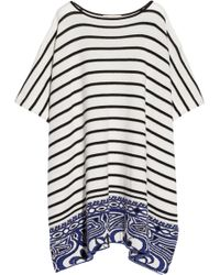 Emilio Pucci Jacquard Knit Wool and Cashmere Blend Poncho - Lyst