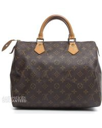 Louis Vuitton Pre-Owned Monogram Canvas Speedy 30 Bag - Lyst