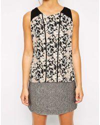 Raishma - Embroidered V-neck Tunic Top - Lyst
