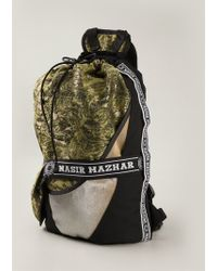 Nasir Mazhar - Jacquard Panelled Backpack - Lyst