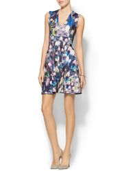 Cynthia Rowley Bonded V-Neck Party Dress - Lyst