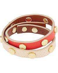 Tory Burch Double Wrap Logo Stud Bracelet - For Women - Lyst