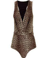 Zimmermann Leopard Tuck Instinct Swimsuit - Lyst