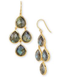 Argento Vivo Labradorite Drop Earrings blue - Lyst