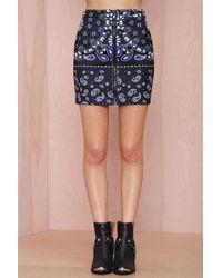 Nasty Gal With The Bandana Neoprene Skirt - Lyst