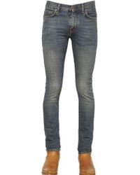 Saint Laurent 155cm Washed Stretch Cotton Denim Jeans - Lyst