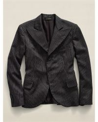 RRL Striped Wool Jacket - Lyst