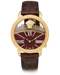 Versace Goldtonefinished Stainless Steel Strap Watch - Lyst