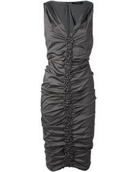 Donna Karan New York Ruched Seam Dress - Lyst