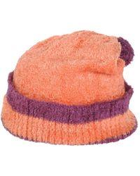 House of Holland Hat orange - Lyst
