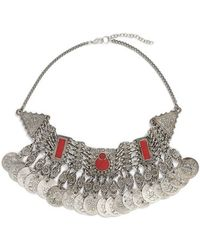 Raga - 'red Clay' Statement Bib Necklace - Lyst