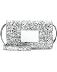 Saint Laurent - Lulu Bunny Small Glitter Shoulder Bag - Lyst