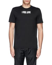 Givenchy 'I Feel Love' Print Cotton T-Shirt - Lyst