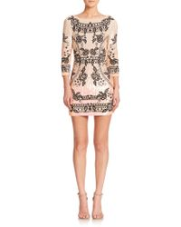 Needle & Thread Sequined Floral Mini Dress - Lyst