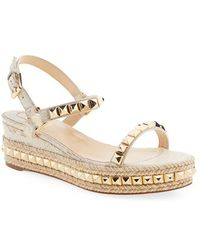 christian louboutin shoes with spikes - Shop Women's Christian Louboutin Wedges | Lyst