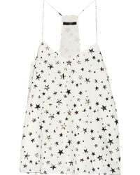 Tibi Star Fields Printed Crepe De Chine Camisole - Lyst