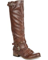Carlos By Carlos Santana Hanna Wide Calf Tall Shaft Boots - Lyst