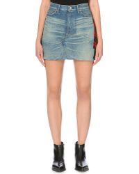 Junya Watanabe Patchwork Denim Skirt - Lyst