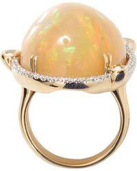 Pamela Huizenga - Ethiopian Opal And Diamond Ring - Lyst