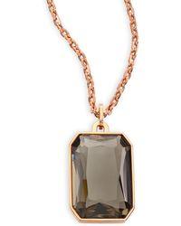 Michael Kors | Parisian Jewels Cushion Long Pendant Necklace | Lyst