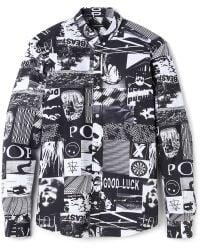 Surface To Air Button Down Shirt black - Lyst