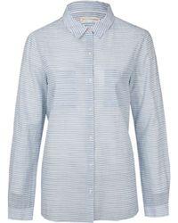 Chinti & Parker Blue Stripe Cotton Voile Shirt blue - Lyst