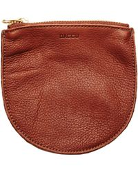 Alternative Apparel - Baggu Small Leather Zip Pouch - Lyst