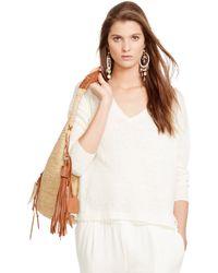 Polo Ralph Lauren Linen V-Neck Pullover - Lyst