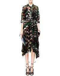 Preen Nova Printed Velvet Devorã Dress - Lyst
