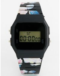 Asos Floral Digital Watch - Lyst