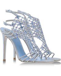 Rene Caovilla Blue Sandals - Lyst