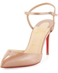 christian louboutin shoes usa - Christian louboutin Studded Leather Platform Pumps in Beige (nude ...