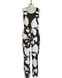 DKNY Floral Jumpsuit - Lyst