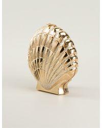 Charlotte Olympia Shellshocked Pavé Rhinestones Embellished Shell Cl - Lyst