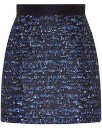 Proenza Schouler Wave Print Mini Skirt - Lyst