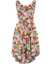 Louche Bow Back Printed Dress - Lyst