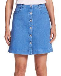 Stella McCartney   Button-front A-line Denim Skirt   Lyst