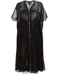 McQ by Alexander McQueen Zip-Detail Pleated Dress - Lyst