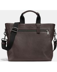 Coach Utility Tote In Pebble Leather brown - Lyst