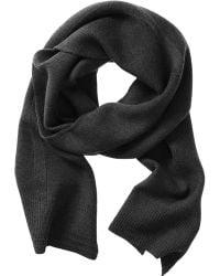Banana Republic Extra Fine Merino Wool Scarf - Dark Charcoal - Lyst
