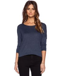 Vince Drop Shoulder Long Sleeve Tee - Lyst