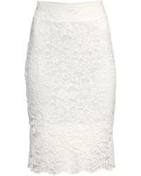 H&M Lace Pencil Skirt - Lyst