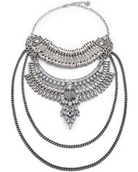 Laura Cantu - Nika Necklace - Silver Multi - Lyst