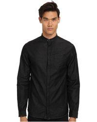 Balmain Mandarin Collar Shirt - Lyst