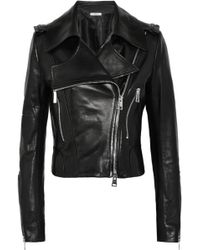 Bouchra Jarrar - Leather Biker Jacket - Lyst