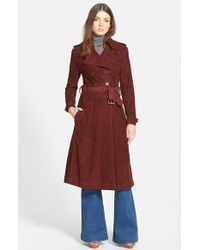 Rebecca Minkoff - 'amis' Suede Trench Coat - Lyst
