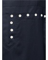 Hyke - Asymmetric Sleeve Wool Marine Dress - Lyst
